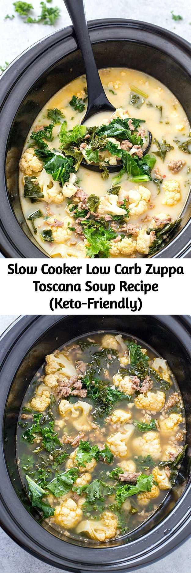 Slow Cooker Keto Zuppa Toscana  Slow Cooker Low Carb Zuppa Toscana Soup Recipe Keto