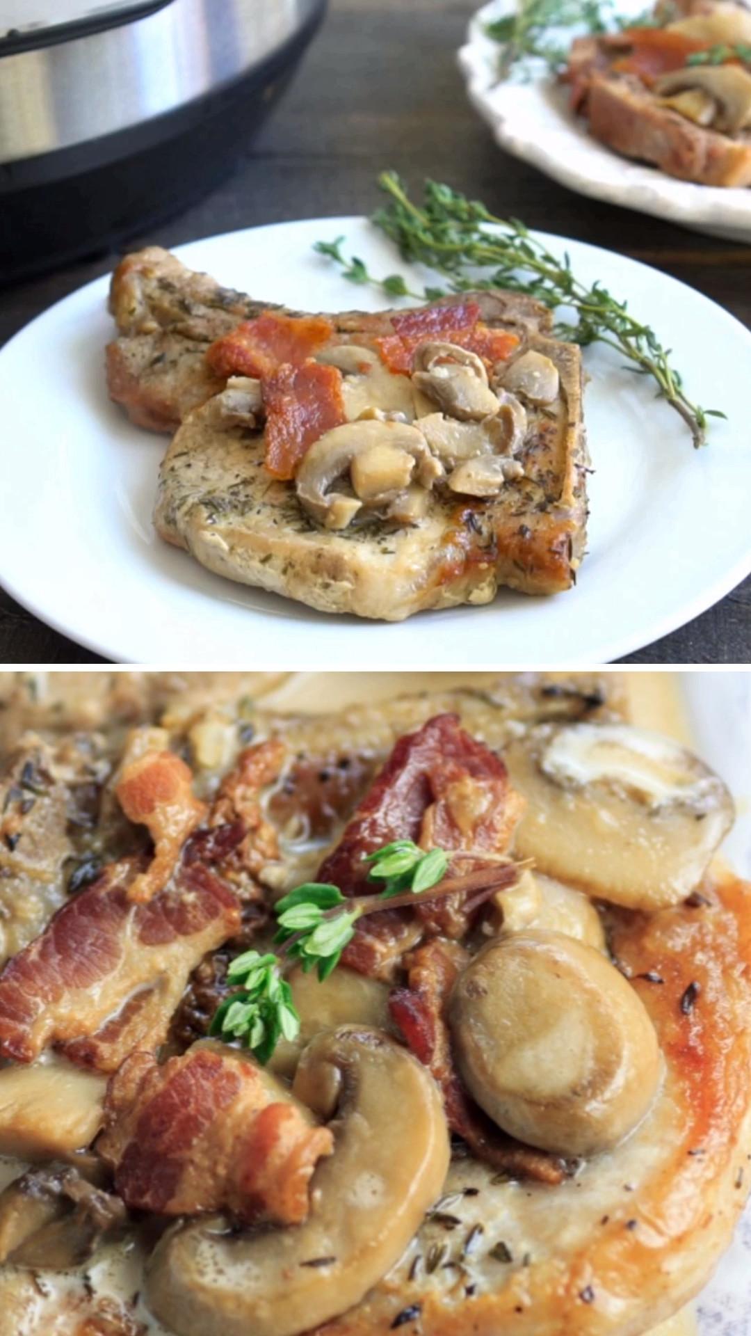 Smothered Pork Chops Crock Pot Keto  Instant Pot Keto Smothered Pork Chops are gluten free low