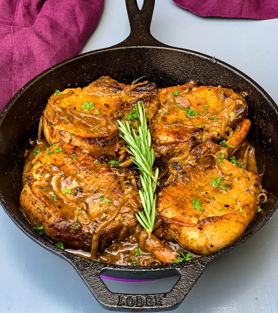 Smothered Pork Chops Crock Pot Keto  Keto Low Carb Smothered Pork Chops is a quick and easy pan
