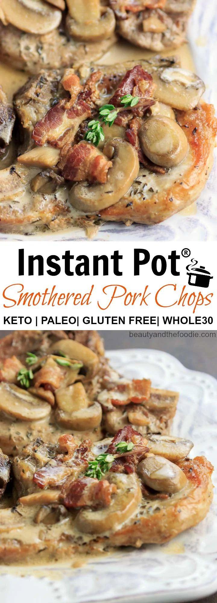 Smothered Pork Chops Crock Pot Keto  Instant Pot Keto Smothered Pork Chops