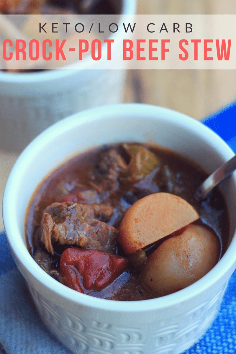 Stew Meat Recipes Crock Pot Keto  Crock Pot Beef Stew Keto Low Carb