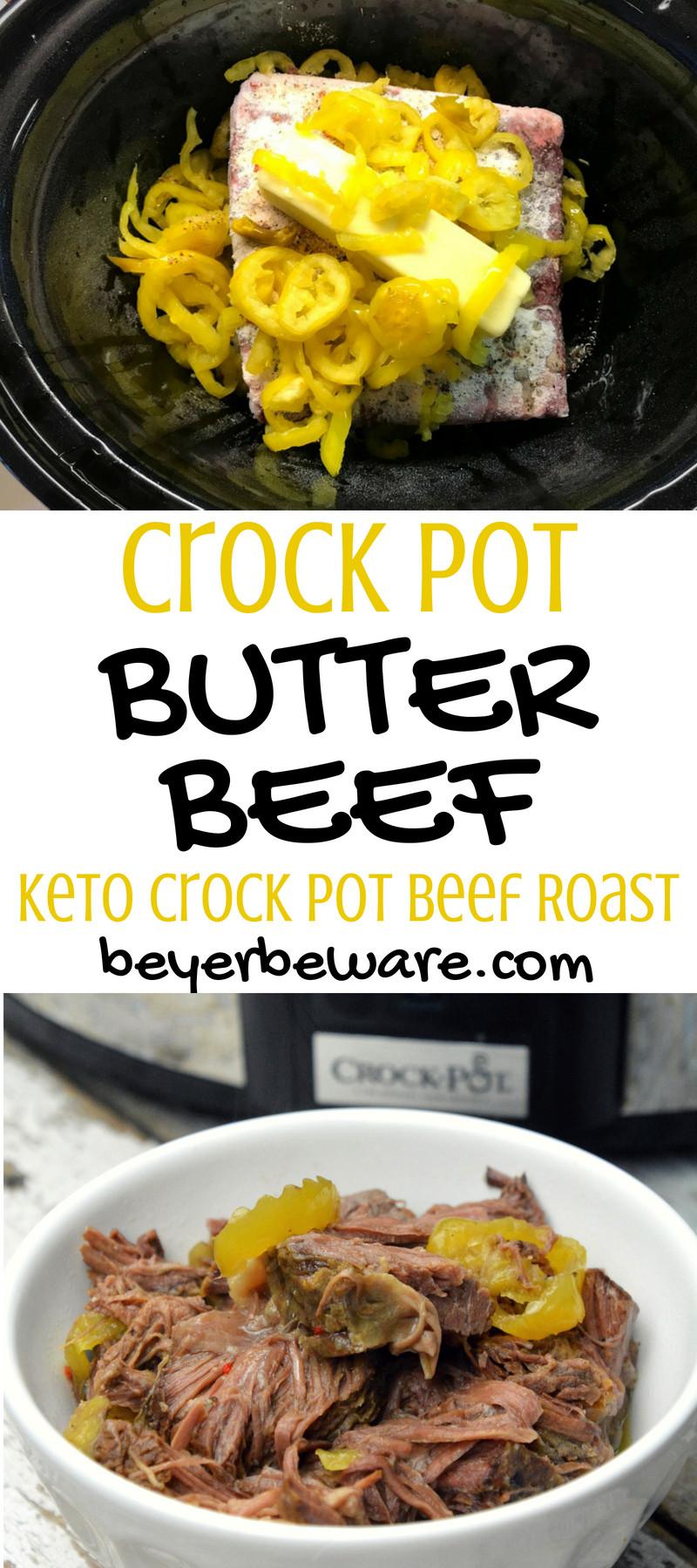 Stew Meat Recipes Crock Pot Keto  Crock Pot Butter Beef Keto Crock Pot Beef Roast Beyer