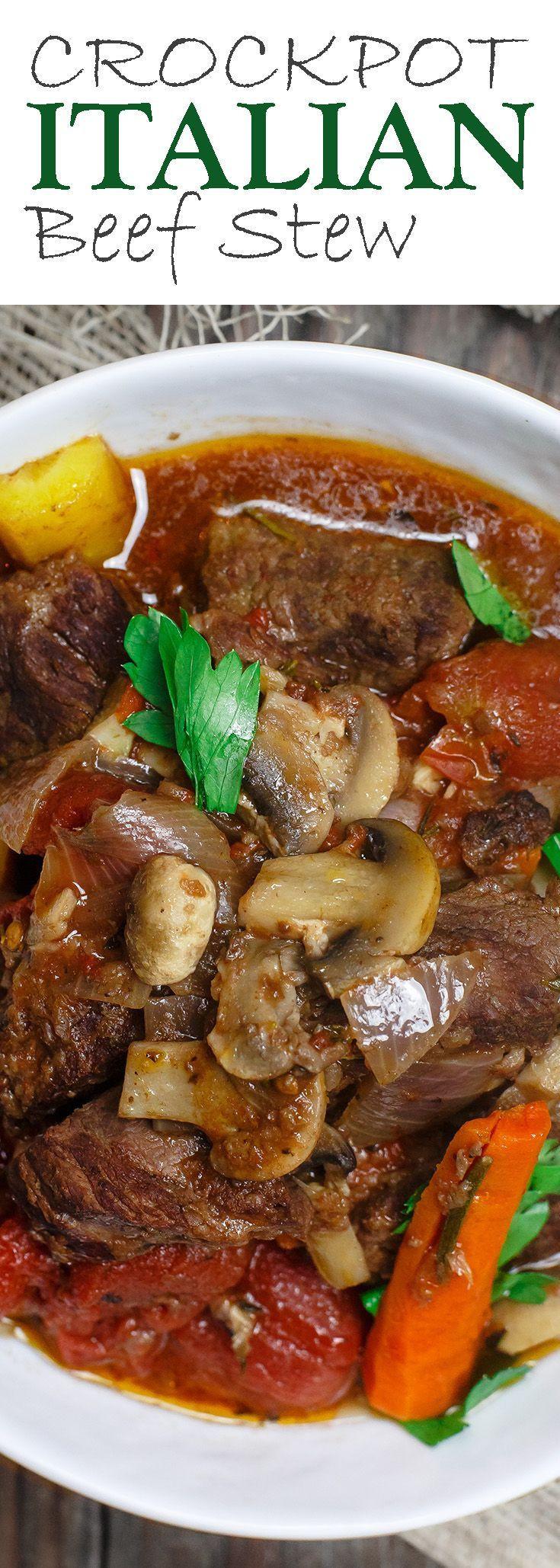 Stew Meat Recipes Crock Pot Keto  Crock Pot Italian Beef Stew Recipe