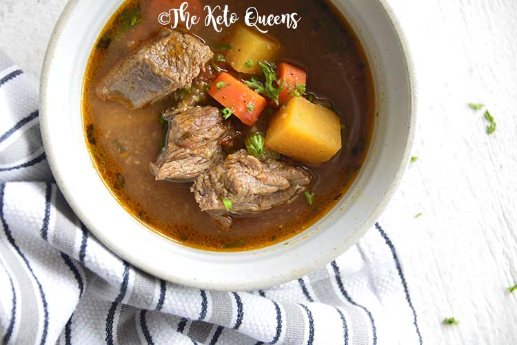 Stew Meat Recipes Crock Pot Keto  The Best Keto Beef Stew Crockpot Recipe The Keto Queens