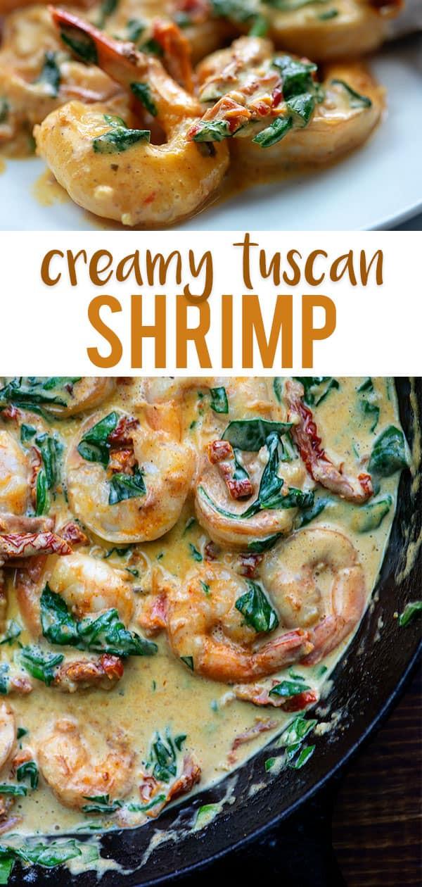 Tuscan Shrimp Keto  Creamy Tuscan Shrimp