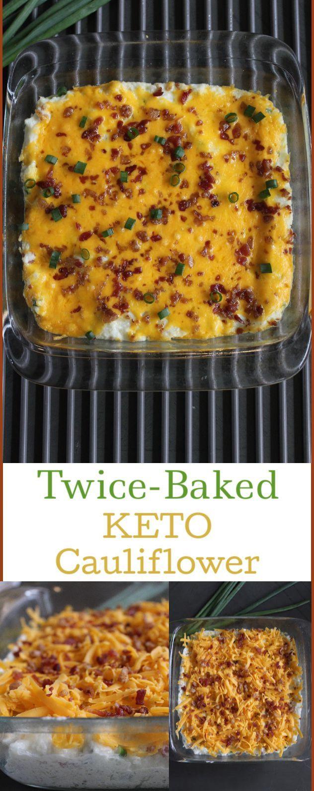 Twice Baked Cauliflower Keto  Keto Twice Baked Cauliflower Recipe in 2020