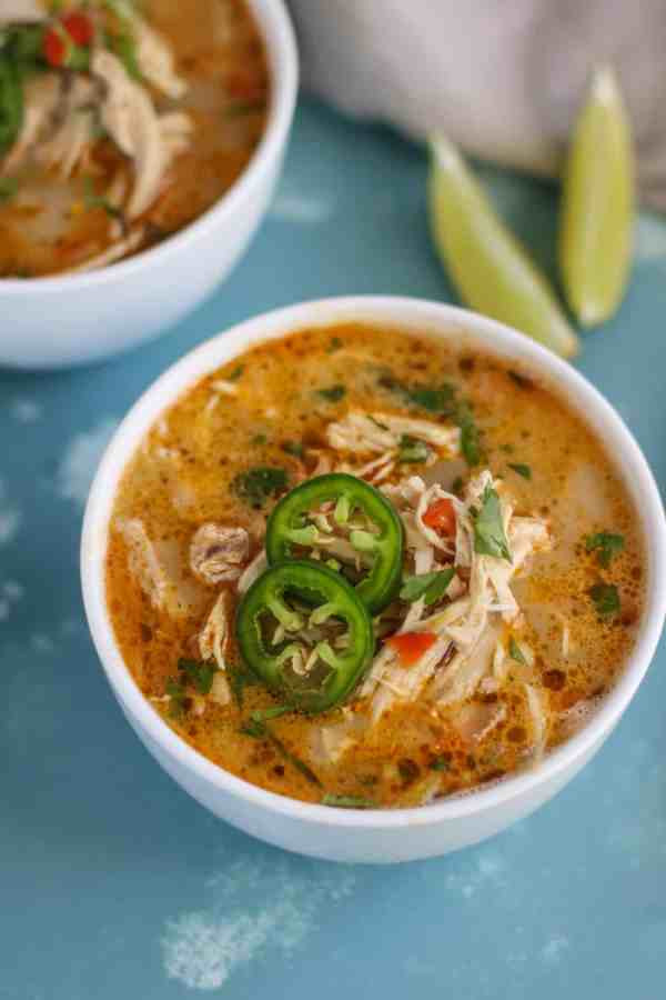 White Chicken Chili Slow Cooker Keto  15 Slow Cooked Keto Meals