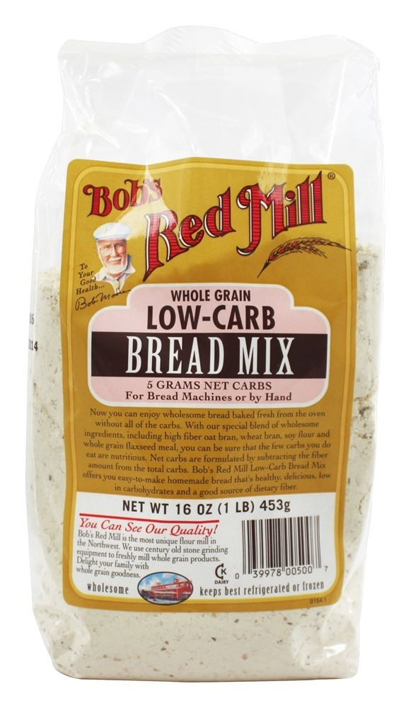 Whole Wheat Bread Low Carb  Buy Bob s Red Mill Low Carb Bread Mix Whole Grain 16