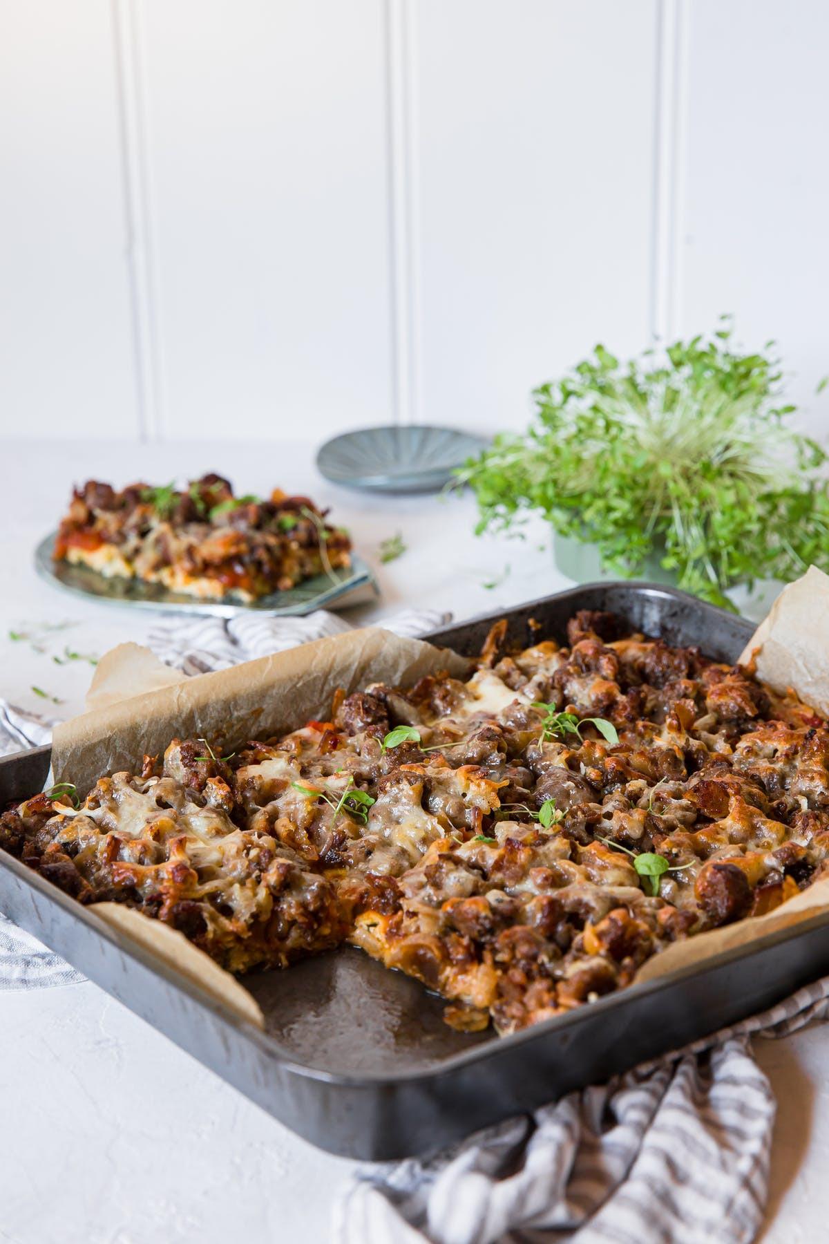 Zucchini Keto Casserole  Keto Zucchini Pizza Casserole — Recipe — Diet Doctor