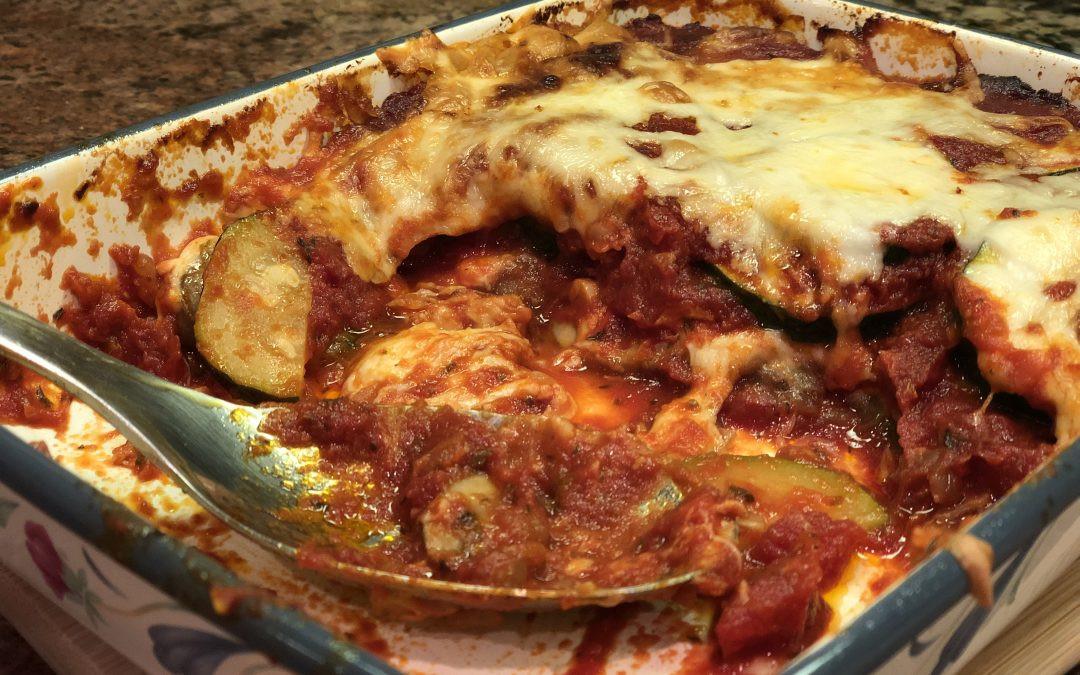 Zucchini Keto Casserole  Keto Zucchini Pizza Casserole
