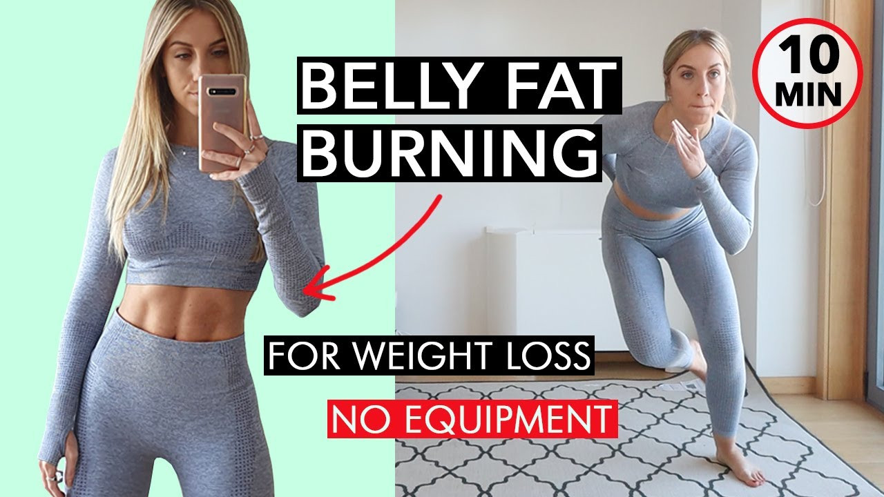 10 Minute Fat Burning Workout  10 Minute BELLY FAT BURNING Workout for Women NO