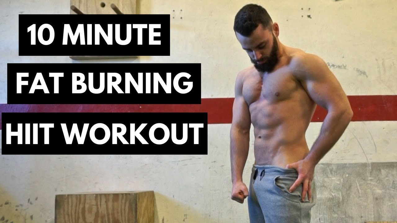 10 Minute Fat Burning Workout  10 Minute Fat Burning HIIT Workout No Equipment