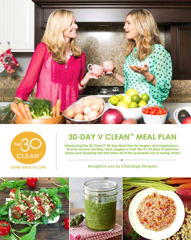 30 Day Vegan Plan  The 30 Clean 30 Day Vegan Meal Plan