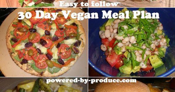 30 Day Vegan Plan  30 Day Vegan Meal Plan All Things Vegan