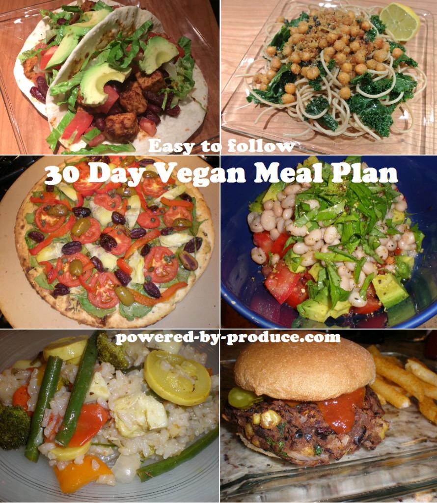 30 Day Vegan Plan  30 Day Vegan Meal Plan
