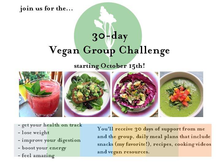 30 Day Vegan Plan  Peaches N Cream Oatmeal 30 day Vegan Challenge info