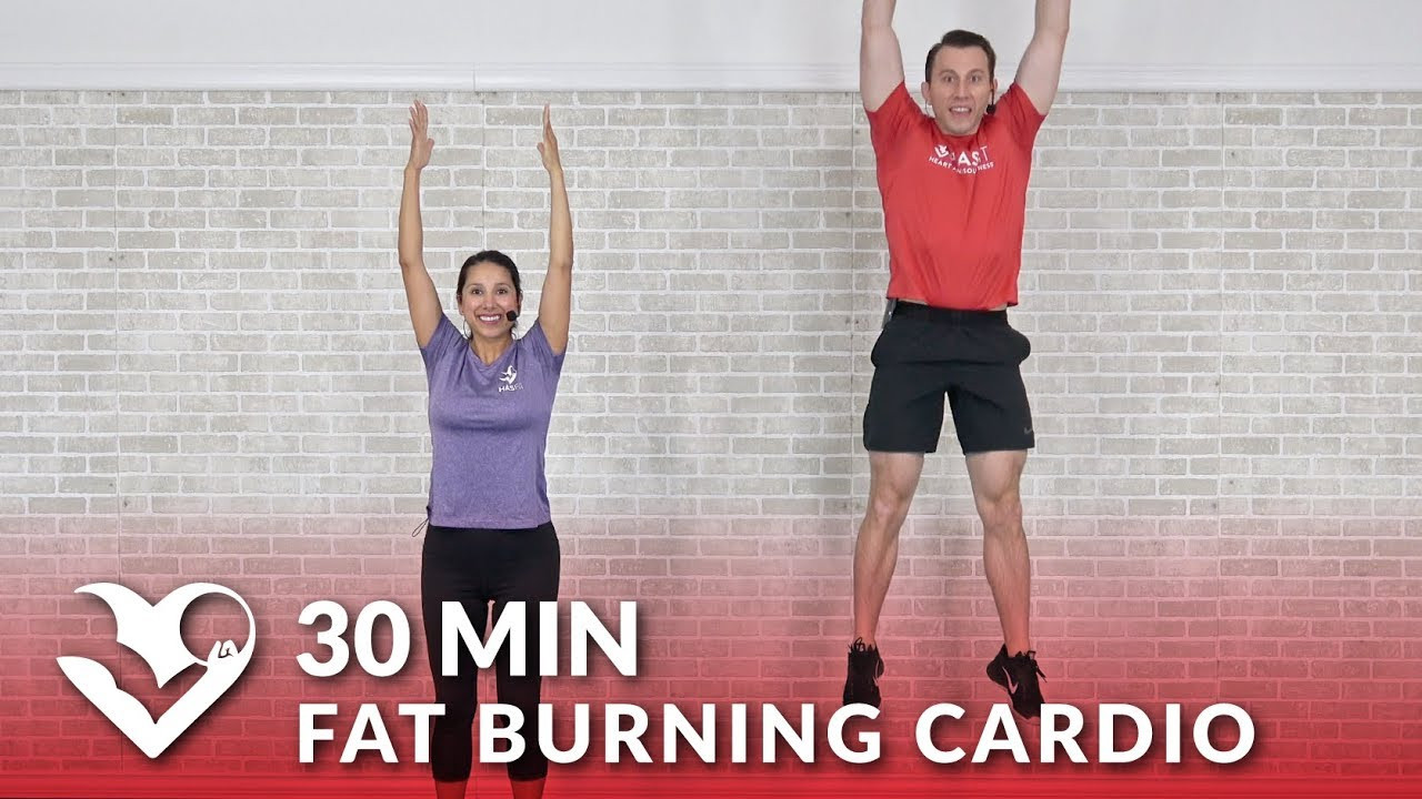 30 Minute Fat Burning Workout  30 Minute Fat Burning Cardio Workout at Home 30 Min HIIT