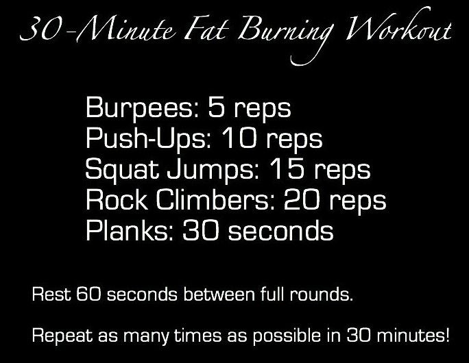 30 Minute Fat Burning Workout  30 Minute Fat Burning Workout