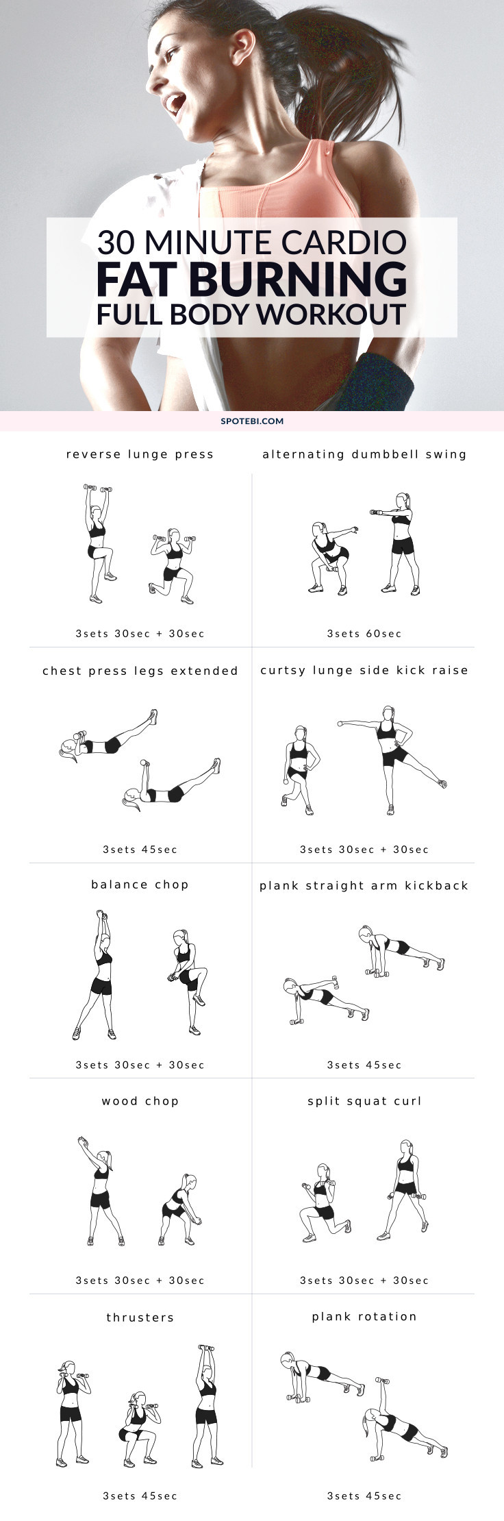 30 Minute Fat Burning Workout  30 Minute Full Body Fat Burning Workout
