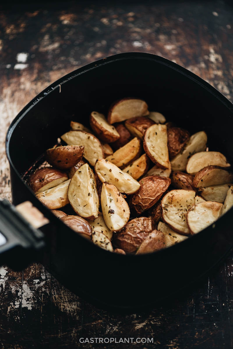 Air Fryer Plant Based Recipes  Air Fryer Roasted Potatoes Recipe