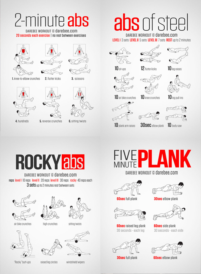 Belly Fat Burning Workout  20 Stomach Fat Burning Ab Workouts From NeilaRey