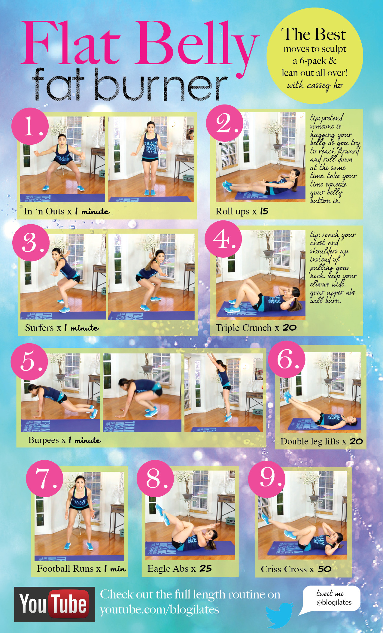 Belly Fat Burning Workout  The BEST Flat Belly Fat Burner Workout – Blogilates