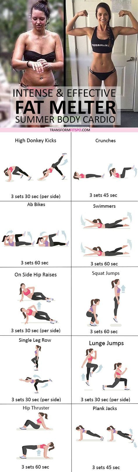 Belly Fat Burning Workout  20 Killer Cardio Workouts To Get Rid That Stubborn