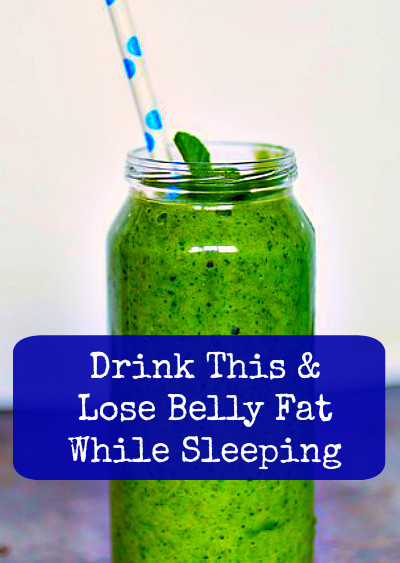 Burn Belly Fat At Night  Drink This At Night and Lose Belly Fat While Sleeping