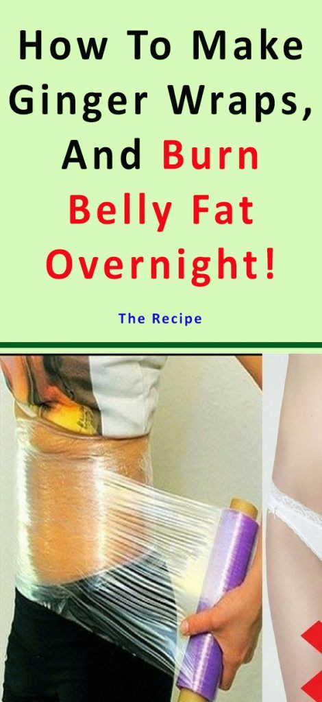 Burn Belly Fat Fast Wrap  How To Make Ginger Wraps And Burn Belly Fat Overnight