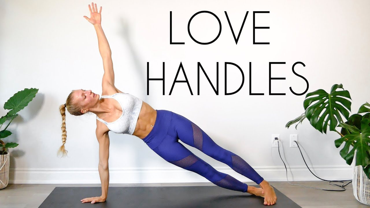 Burn Belly Fat Workout At Home  LOVE HANDLE Workout BURN BELLY FAT At Home No Equipment