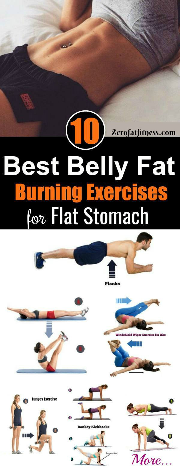 Burn Belly Fat Workout At Home  10 Best Belly Fat Burning Exercises for Flat Stomach at