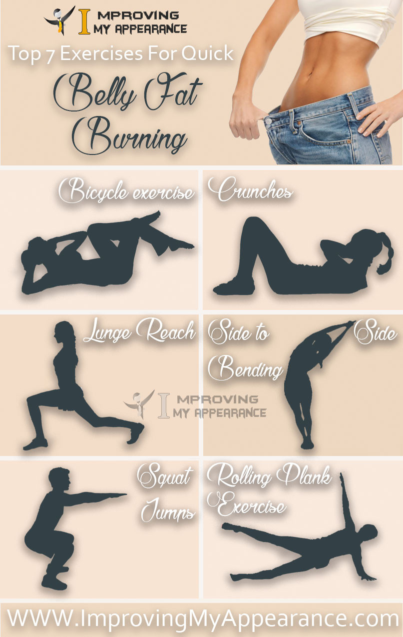 Burn Belly Fat Workout At Home  Top 7 Exercises For Quick Belly Fat Burning Tummy