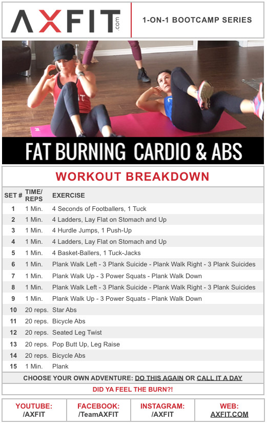 Burn Belly Fat Workout At Home  20 Minute Advanced Fat Burning Cardio and Ab Home Workout