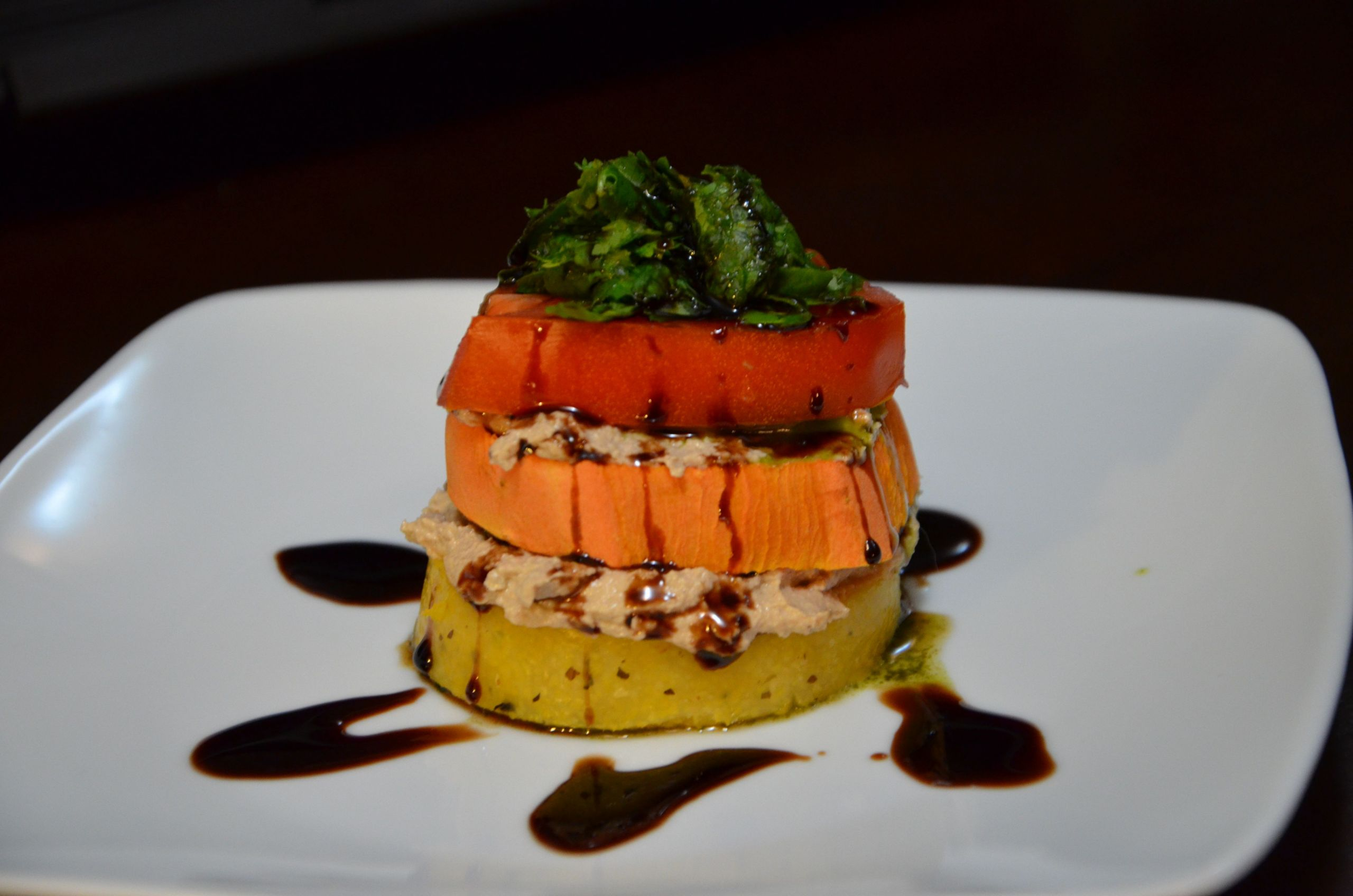 """Dr Esselstyn Recipes Plant Based Diet  Dr Seuss Stacked Polenta """"My Beef With Meat"""" by Rip"""