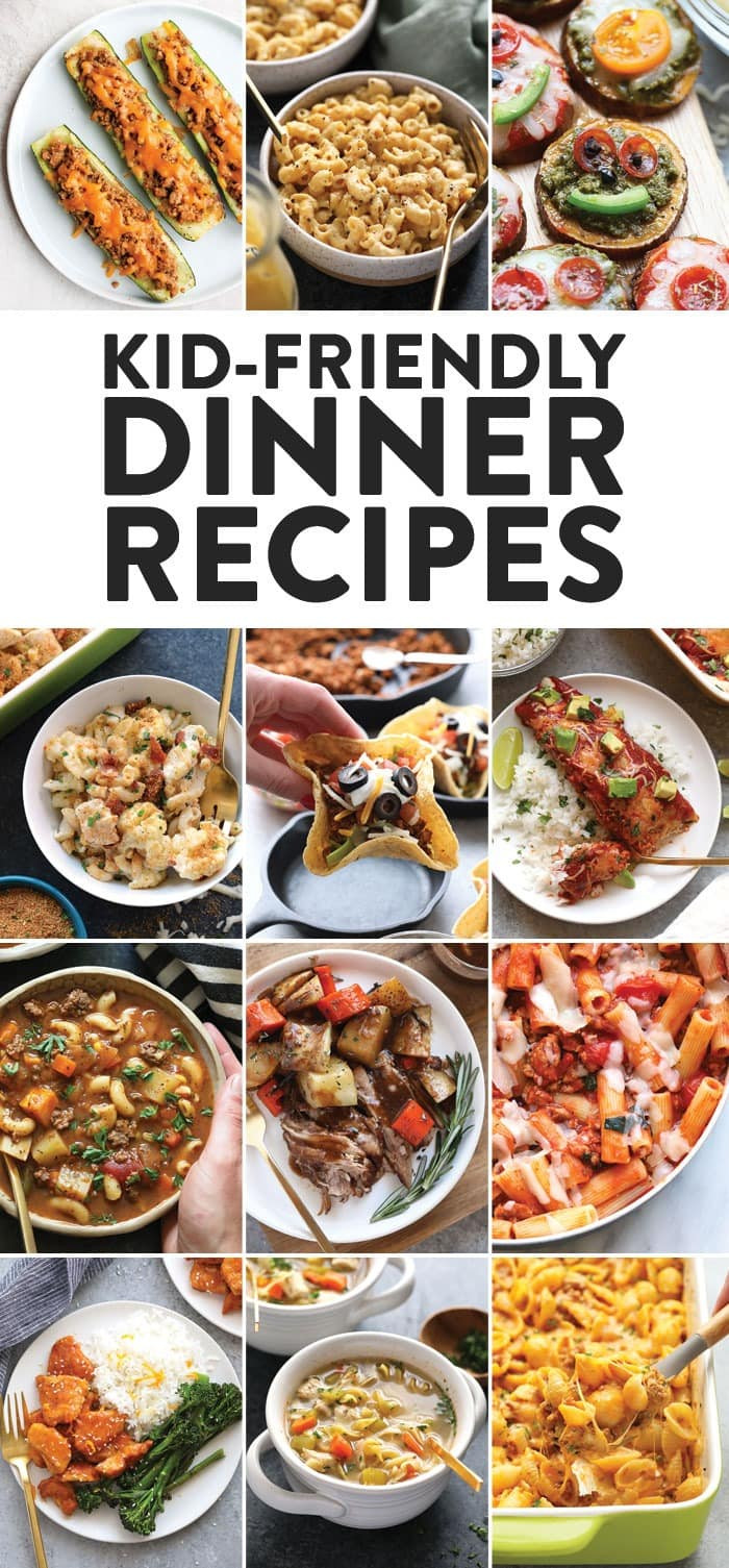 Easy Dinner Recipes For Kids  Healthy Kid Friendly Dinner Recipes 30 Recipes Fit