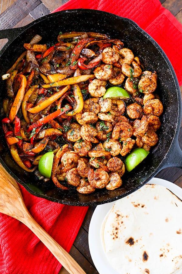 Easy Dinner Recipes Videos  Skillet Shrimp Fajitas Easy Dinner Recipe No 2 Pencil