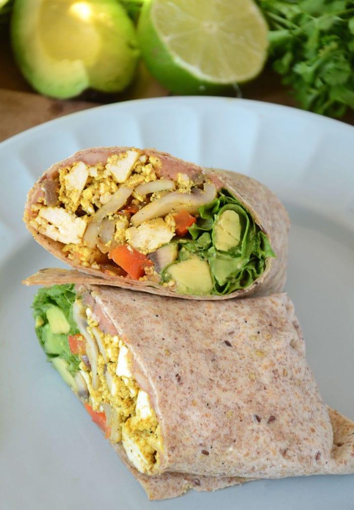 Easy Vegan Breakfast  Amazing Healthy Vegan Breakfast Burritos