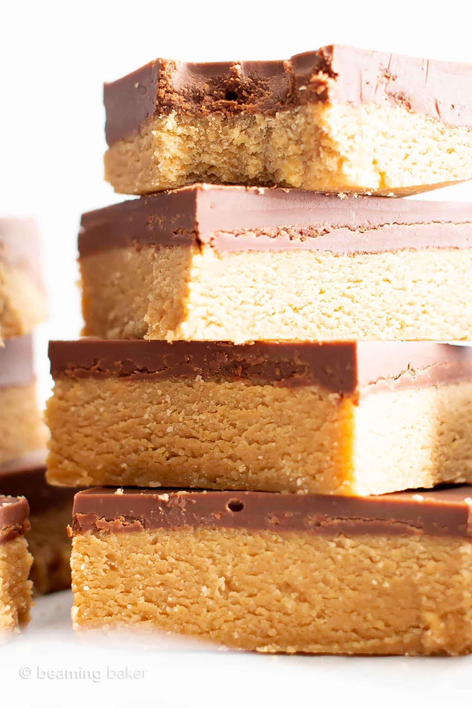 Easy Vegan Dessert Healthy  4 Ingre nt Easy Vegan Chocolate Peanut Butter Bars
