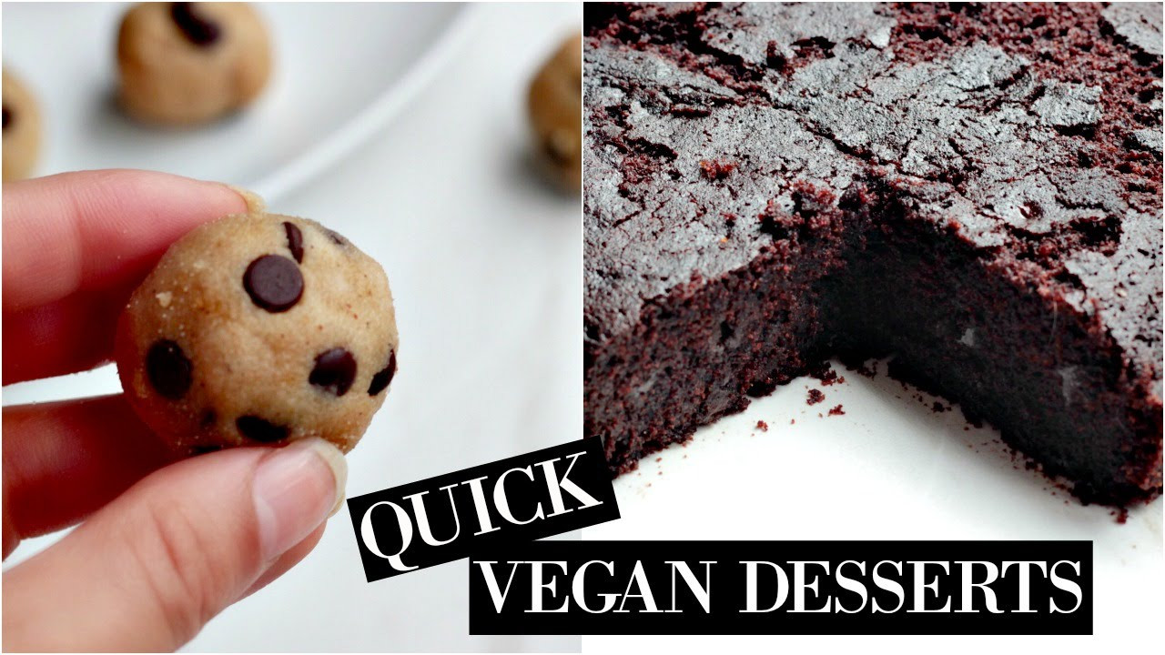 Easy Vegan Dessert Healthy  HEALTHY DESSERTS