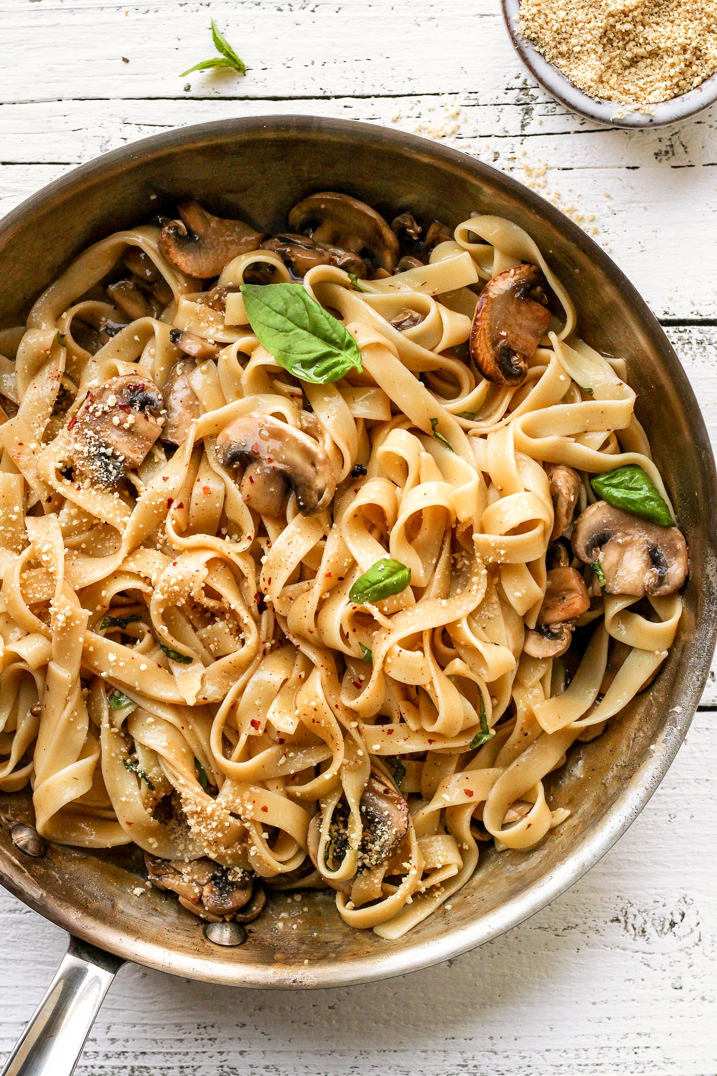 Easy Vegan Pasta Sauce  Mushroom Pasta with Creamy Peppercorn Sauce Full of Plants