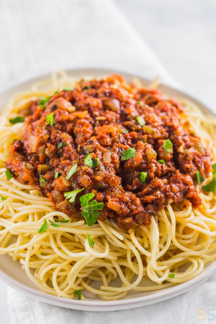 Easy Vegan Pasta Sauce  Homemade Spaghetti Sauce Recipe Vegan