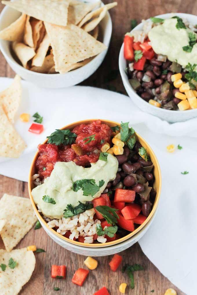 Easy Vegan Recipes For Beginners Simple  Super Simple Vegan Burrito Bowl 20 Minute Recipe