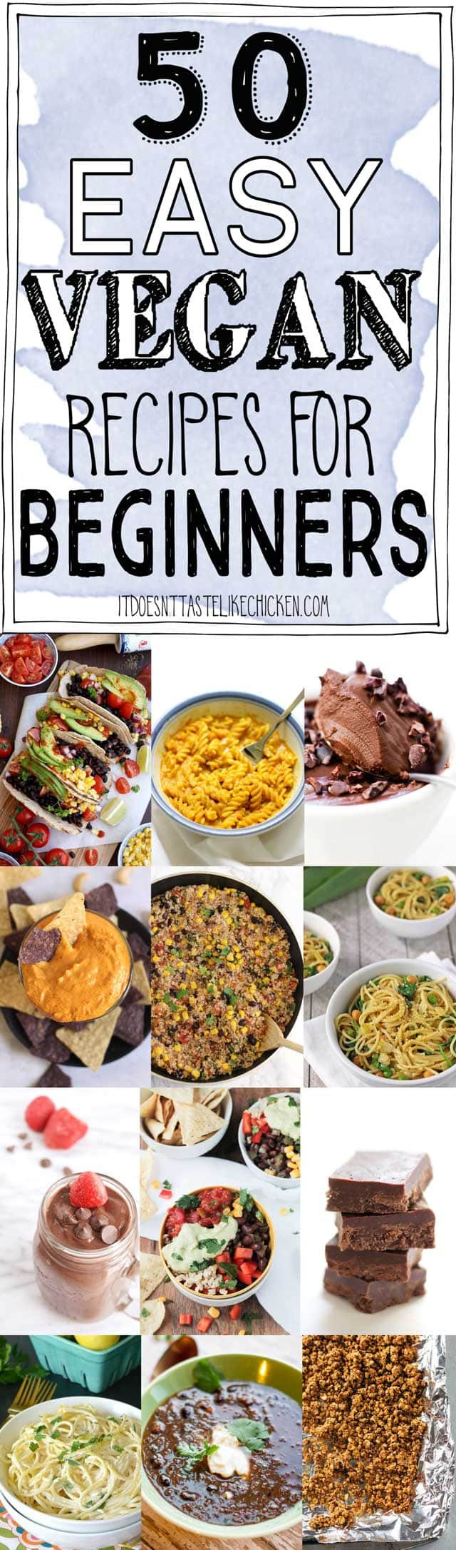 Easy Vegan Recipes For Beginners Simple  50 Easy Vegan Recipes for Beginners • It Doesn t Taste