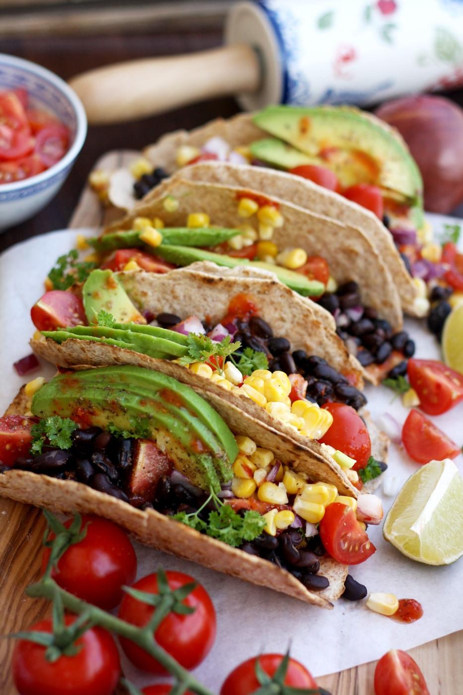 Easy Vegan Tacos  5 minute Easy Vegan Tacos • Happy Kitchen
