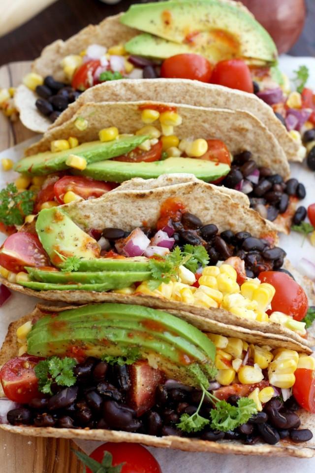 Easy Vegan Tacos  5 minute Easy Vegan Tacos • Happy Kitchen Rocks