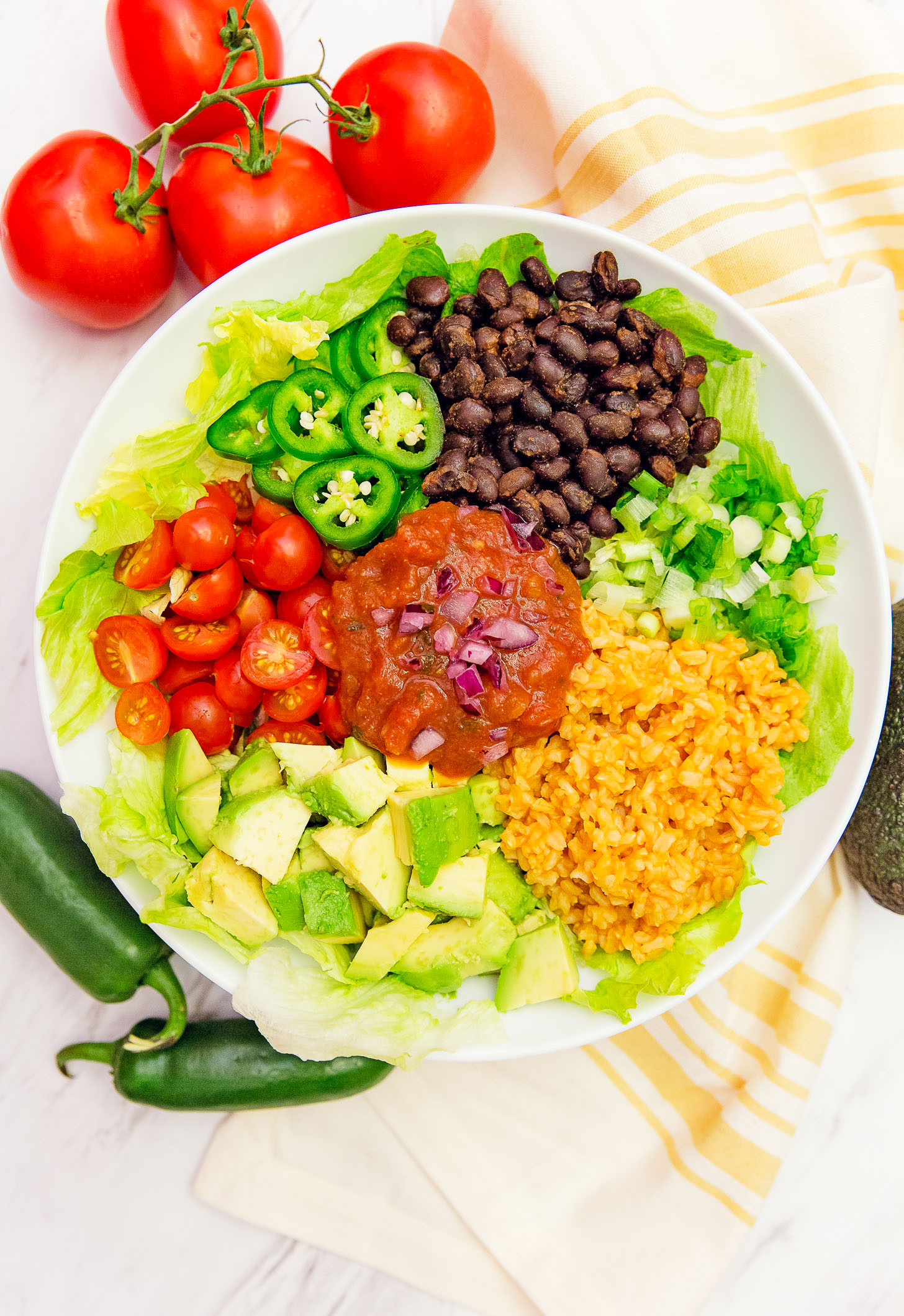 Easy Whole Food Plant Based Recipes  Salsa Veggie Bowl Monkey and Me Kitchen Adventures