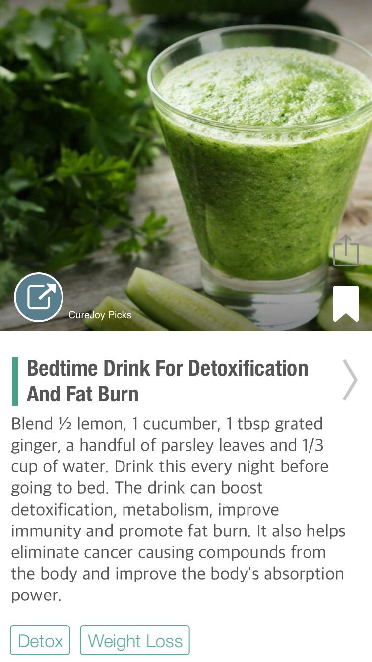 Fat Burning Foods And Drinks  Bedtime Drink For Detoxification And Fat Burn via