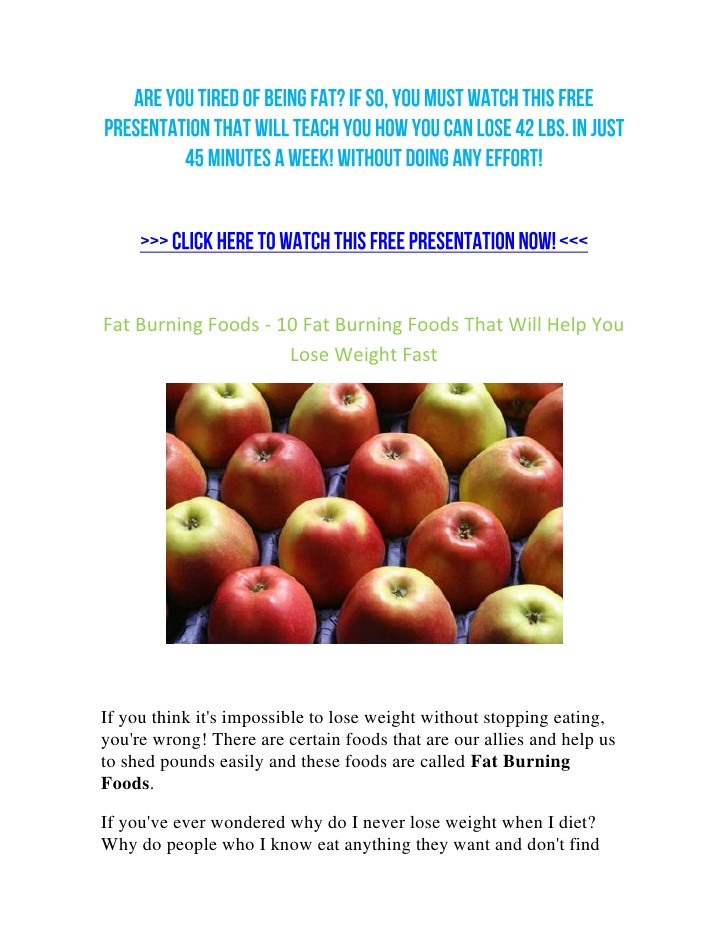 Fat Burning Foods Losing Weight 10 Pounds  Fat Burning Foods 10 Fat Burning Foods That Will Help