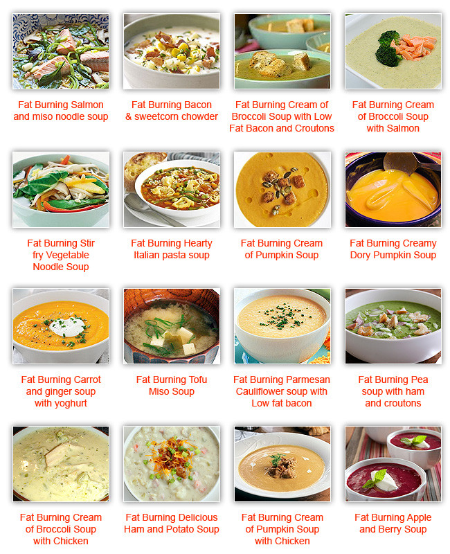 Fat Burning Foods Recipes Meals  Fat Burning Soup Diet Recipes Quick And So Simple To Cook