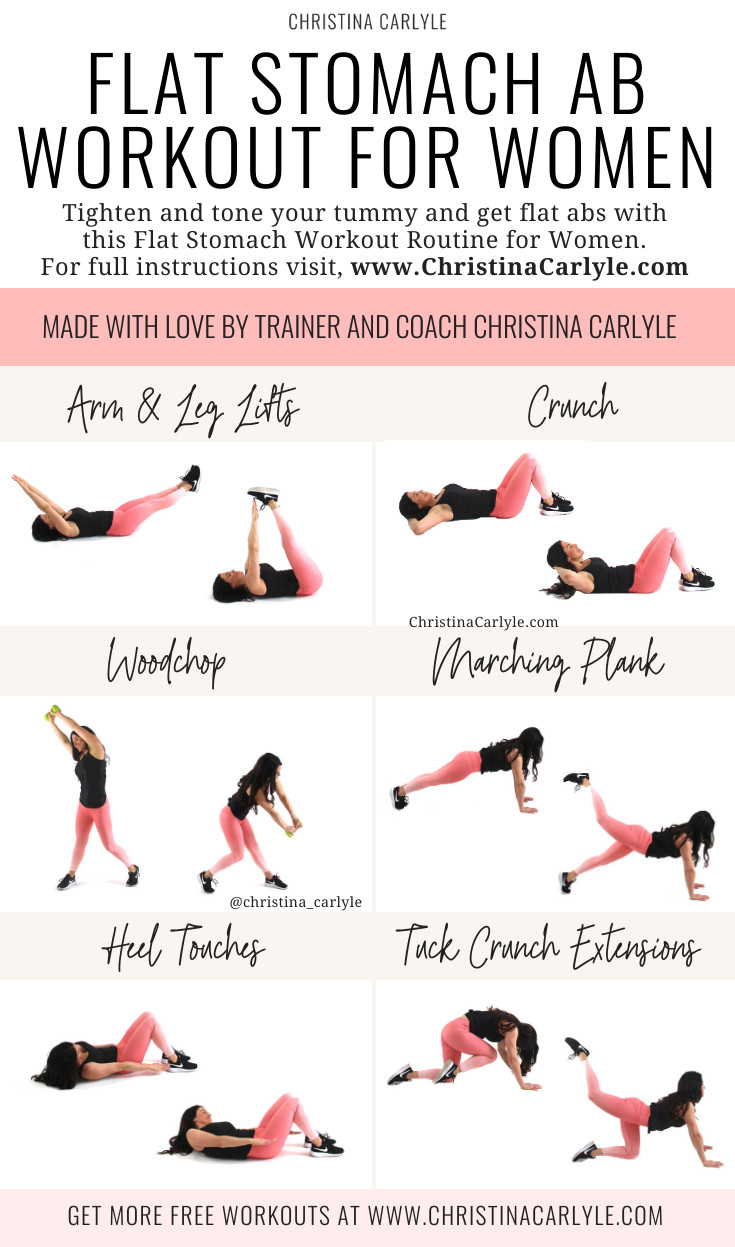 Fat Burning Workout At Home Flat Stomach  Pin on Workouts for Women